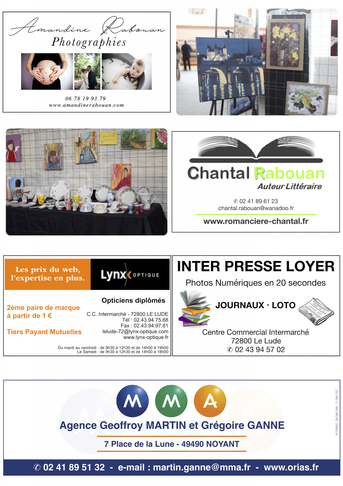 Partenaires 2019 - Journée Artistique et Littéraire Noyantaise
