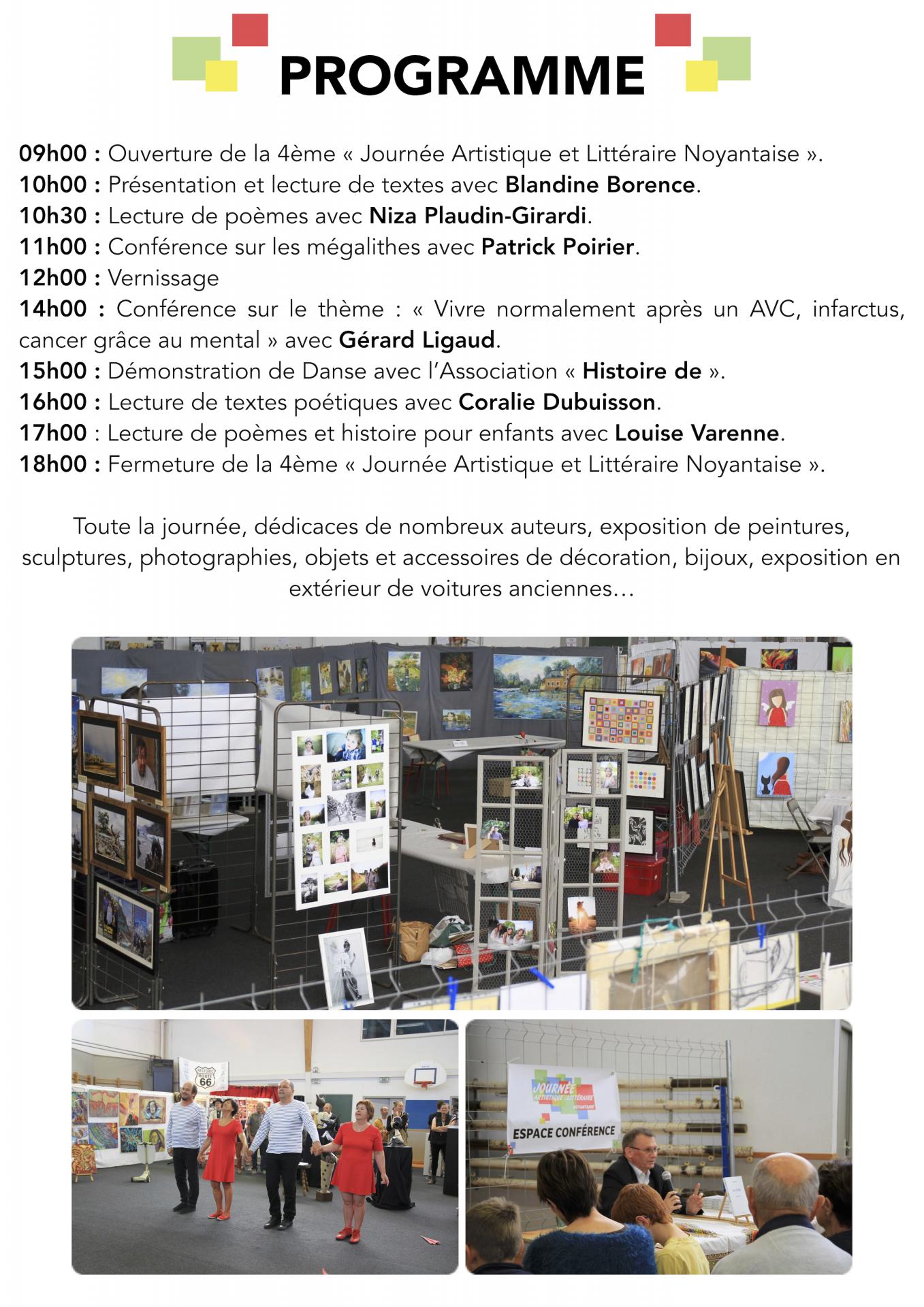 Programme 2019 - Journée Artistique et Littéraire Noyantaise